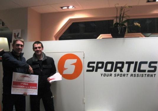 Sportics - winnaar eindejaarsactie