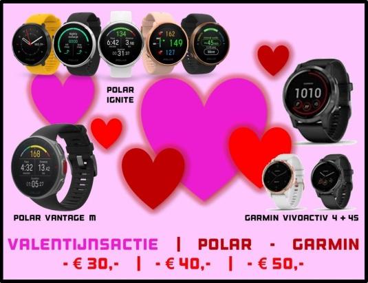 Polar & Garmin Valentijnsactie