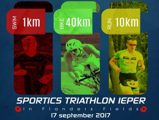 Affiche Sportics Triathlon Ieper